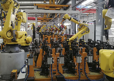 Guardrail Automatic Welding Robot Production Line With 4 Axis Environmentally Friendly